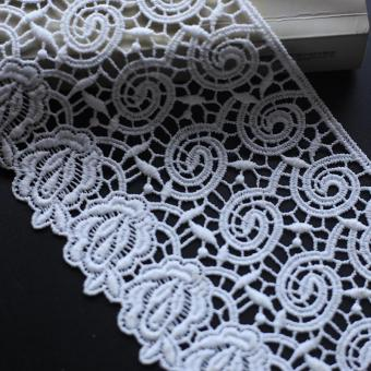 the best price embroideried fabric lace